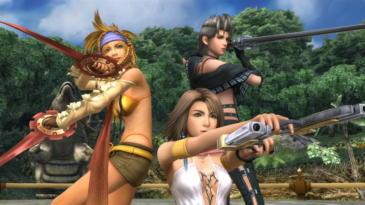 Final Fantasy X-2 HD Remaster: Rikku, Paine, and Yuna