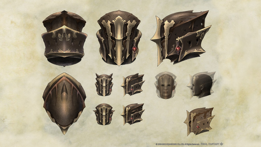 Final Fantasy XIV: Helmet Concept Art