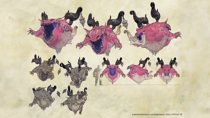 Final Fantasy XIV: Monster Concept Art