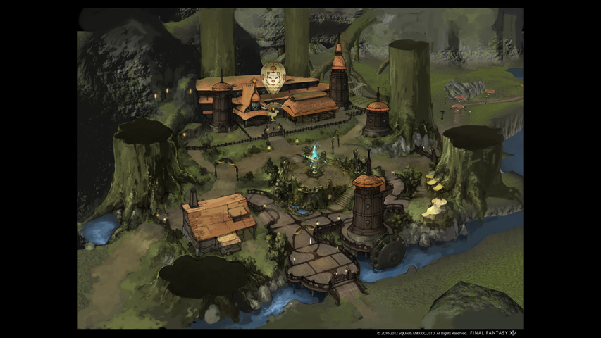 Final Fantasy XIV: Scenery Concept Art