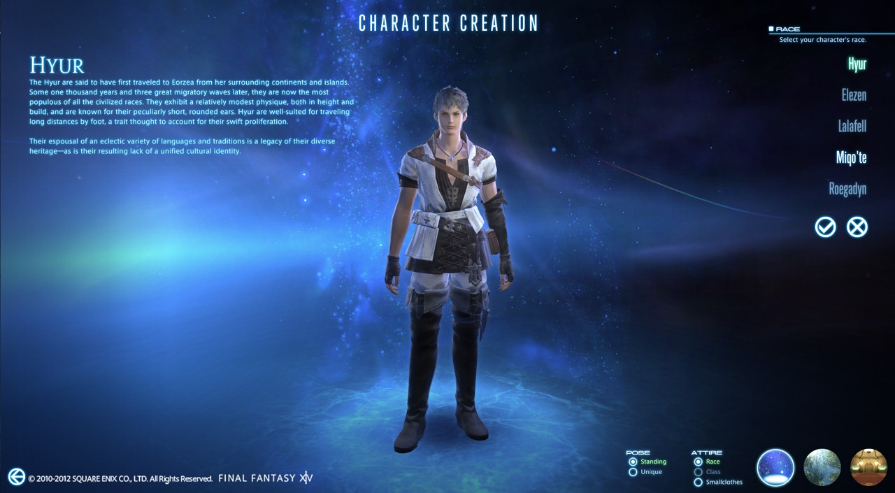 Final Fantasy XIV: A Realm Reborn - Hyur (Character Creation)