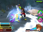 Kingdom Hearts 3D: Dream Drop Distance Battle Screenshot
